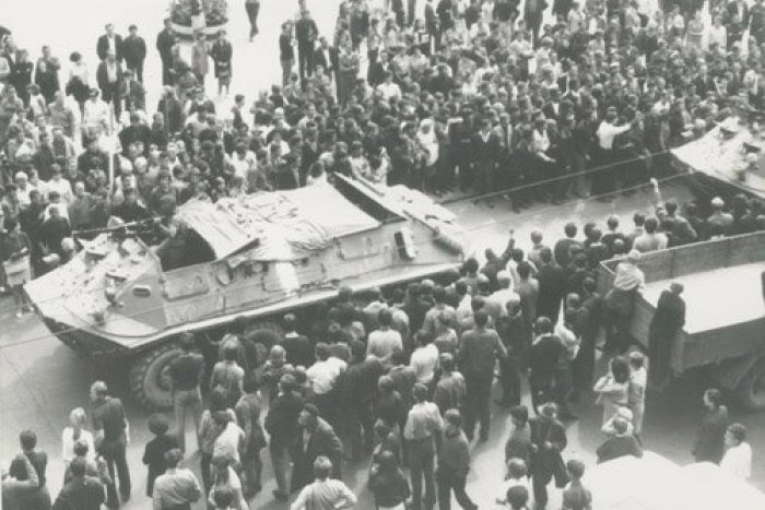 Ilustračný obrázok k článku Pozrite si unikátne fotky: Mrazivé momenty z augusta 1968 v uliciach Banskej Bystrice
