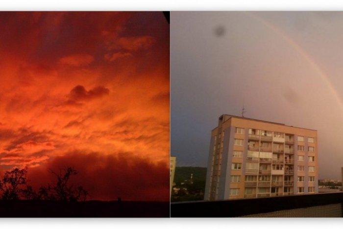 Ilustračný obrázok k článku Impozantné úkazy na oblohe nad Košicami: Ľudia dvíhali hlavy k oranžovému nebu aj k dúhe