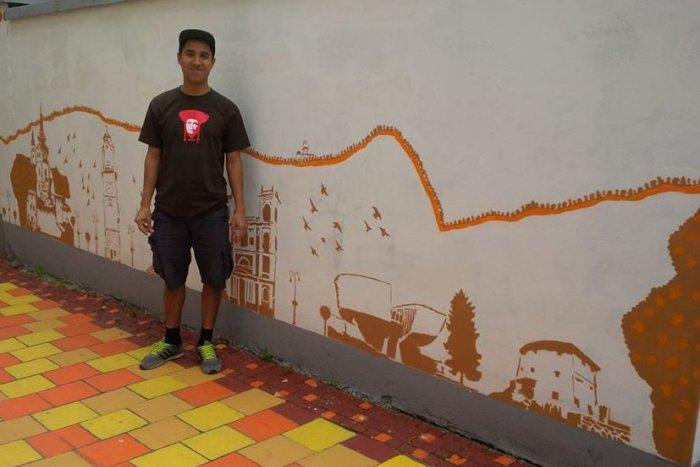 Ilustračný obrázok k článku Mexický street artista, ktorého do Bystrice priviedla láska: Takto krásne zatraktívňuje priestory mesta pod Urpínom!