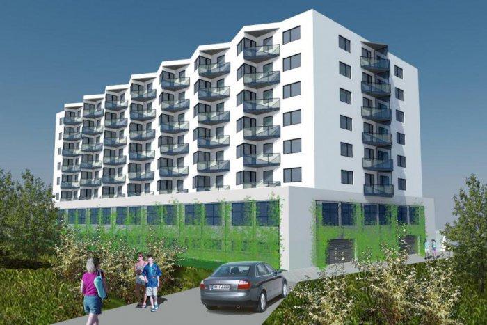 Ilustračný obrázok k článku Vo Vajnoroch rastie polyfunkčný dom Diamant s viac ako 100 bytmi