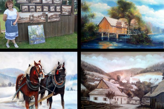 Ilustračný obrázok k článku FOTO: Pani Janka svojimi obrazmi pootvorila nostalgické okná do minulosti Horehronia