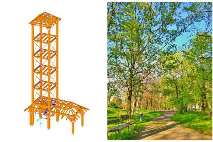 Ilustračný obrázok k článku Novú drevenú rozhľadňu budú mať aj vo Vrakuni. Stavajú ju v lesoparku