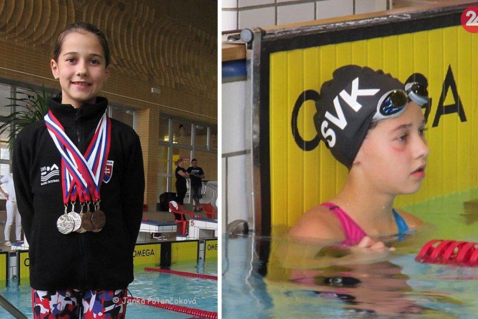 Ilustračný obrázok k článku Mladý talent bystrického plávania žal úspechy. Ema získala 6 medailí v 6 disciplínach