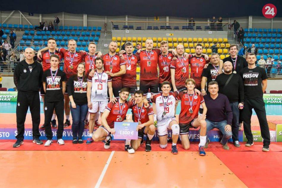 Ilustračný obrázok k článku Statočný výkon prešovských volejbalistov: Mali na triumf v pohári, berú striebro