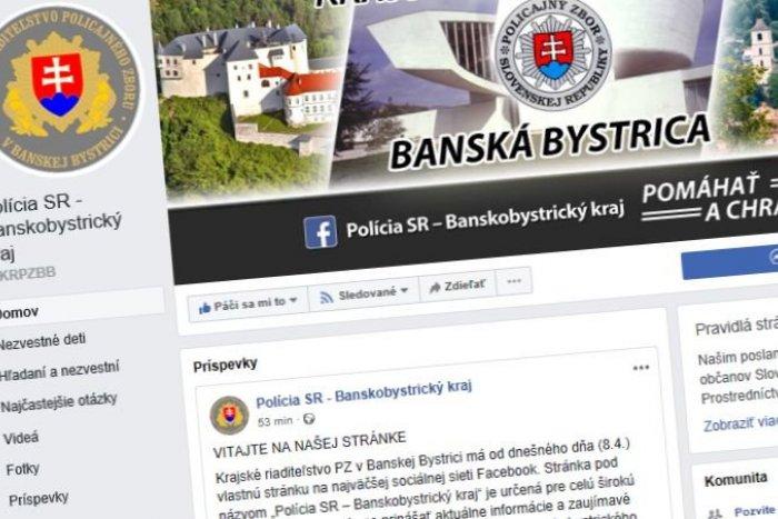 Ilustračný obrázok k článku Na Facebooku sú už aj krajskí policajti: Informovať chcú o aktualitách aj dopravných obmedzeniach