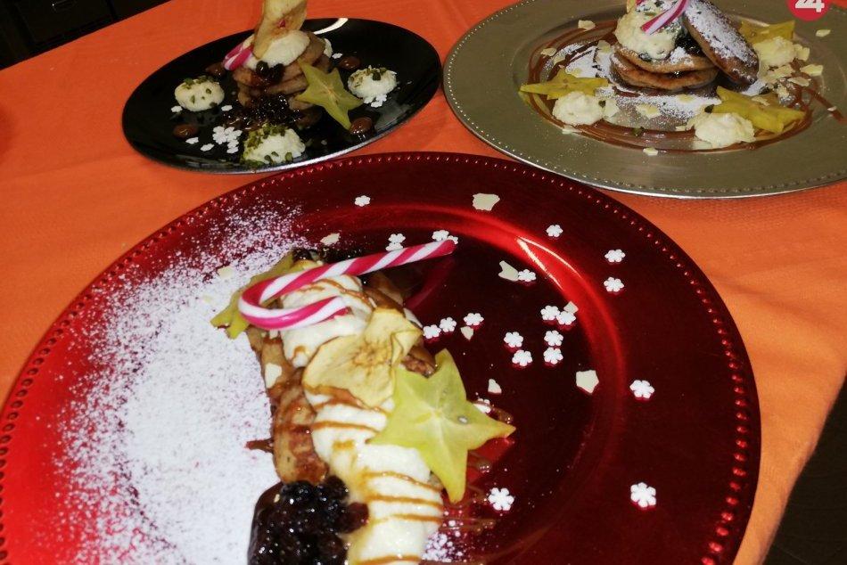 Ilustračný obrázok k článku Tradično netradičný recept: Jablkové lievance plnené mascarpone a mandľovou plnkou, FOTO
