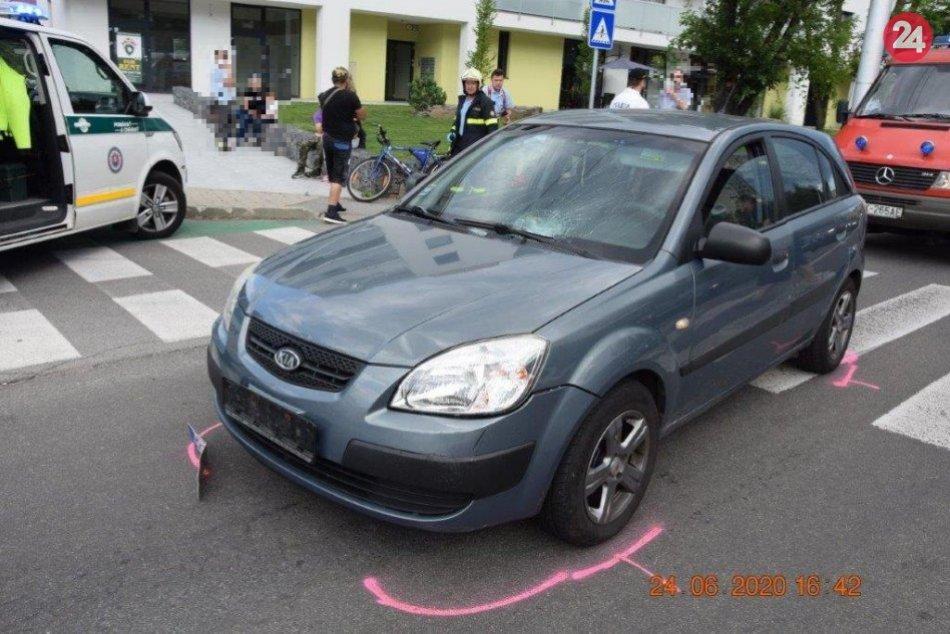 Ilustračný obrázok k článku Hrozivá nehoda na bystrickom priechode: Malý cyklista sa zrazil s autom, FOTO