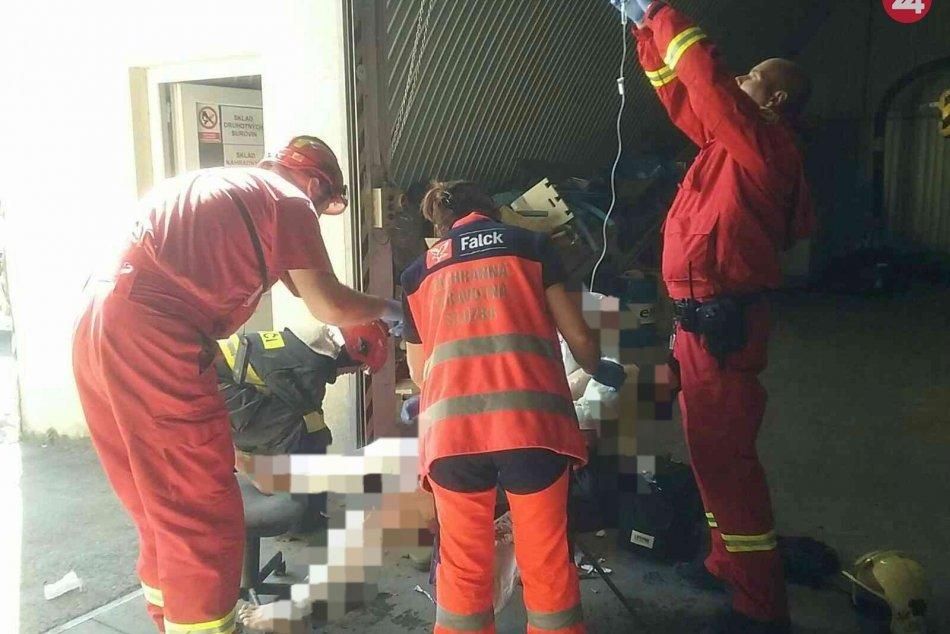 Ilustračný obrázok k článku Rana a ničivé plamene: Pri výbuchu v dielni v Martine sa zranili dvaja ľudia