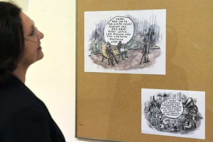 Ilustračný obrázok k článku Tie kresby určite poznáte: Rusínske múzeum vystavuje karikatúry Fedora Vica