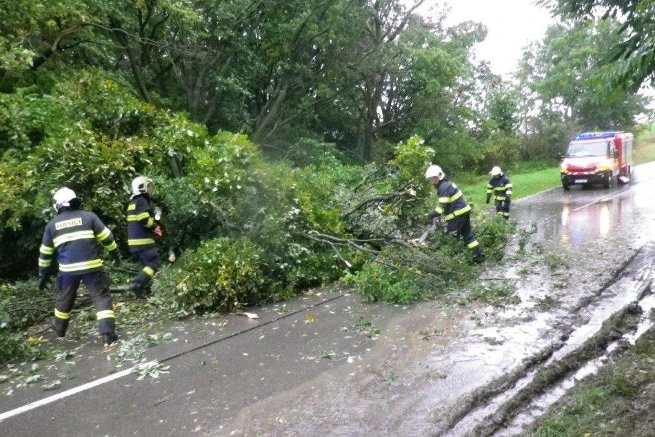 Ilustračný obrázok k článku Počasie dáva zabrať: Popadané stromy, zatopená pivnica a ohrozené domy, FOTO