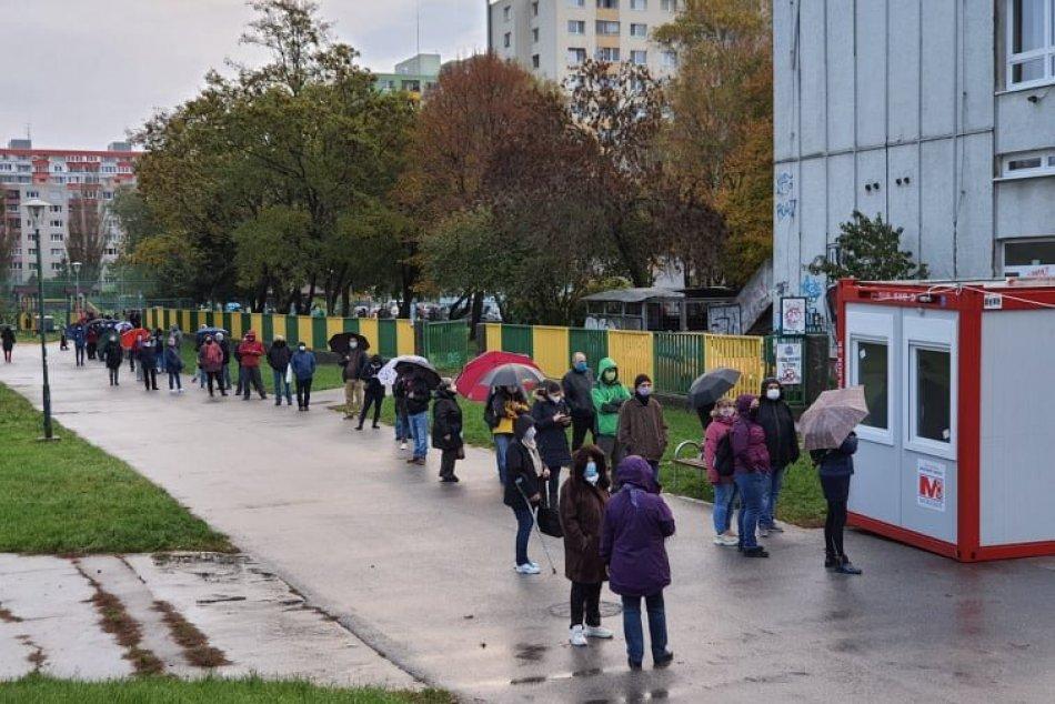 Ilustračný obrázok k článku Vypuklo veľké testovanie národa: KOLÓNY a DLHÉ RADY sú v celej Bratislave! + FOTO