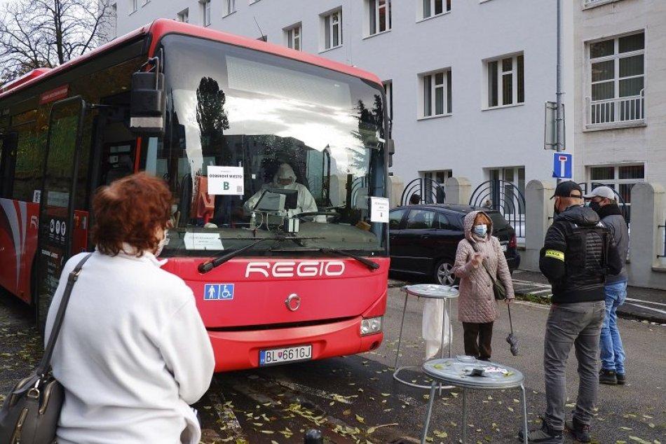 Ilustračný obrázok k článku Odberné miesta v Bratislave: Na testovanie vo vozidlách MHD sa môžete vopred OBJEDNAŤ