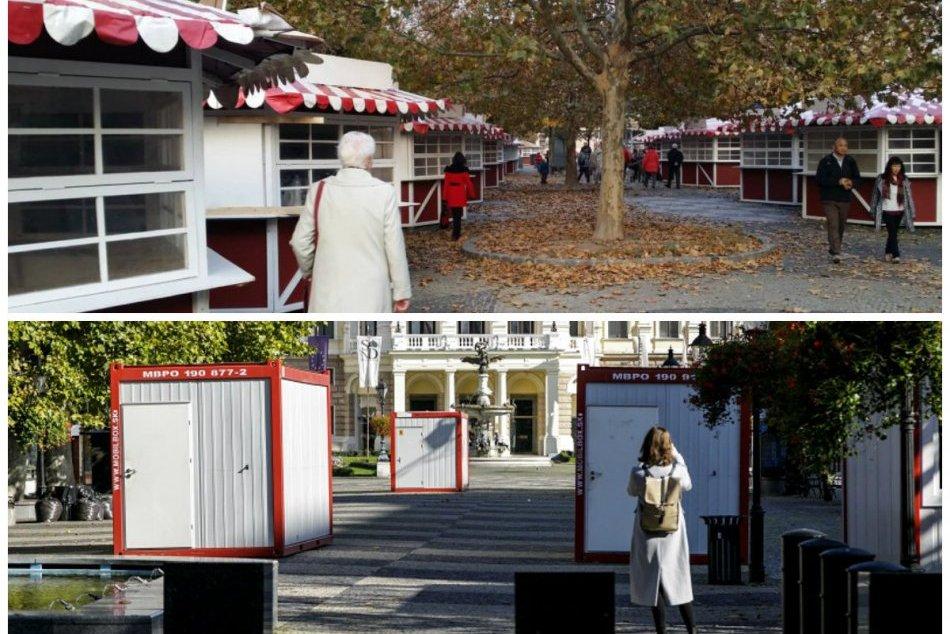 Ilustračný obrázok k článku OBRAZOM: Pred rokom Bratislava žila prípravou vianočných trhov, dnes zívajú ulice prázdnotou