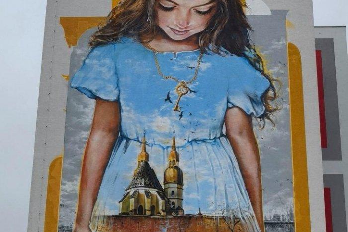 Maľba na paneláku v Trnave