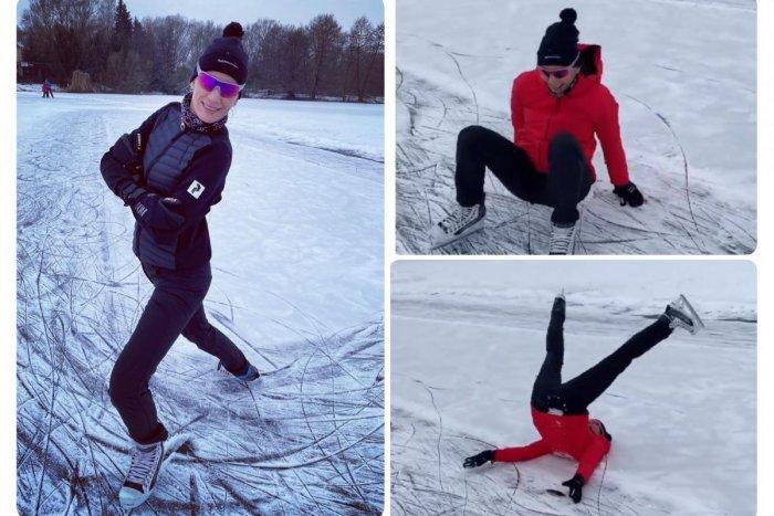 Ilustračný obrázok k článku Kuzminová to vie aj na korčuliach: Jednému pádu na zadok sa však nevyhla! FOTO