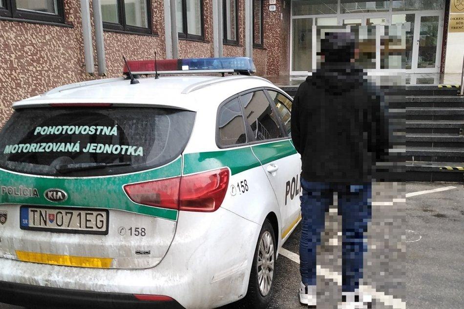 Ilustračný obrázok k článku Trenčianski policajti sa pochlapili: Handlovčanovi nepomohlo ani skrývanie, FOTO