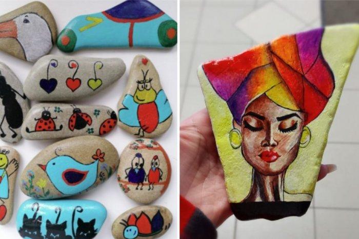 Ilustračný obrázok k článku Slovensko ovládol veľký HIT: Deti aj dospelí maľujú a hľadajú Veselé kamene