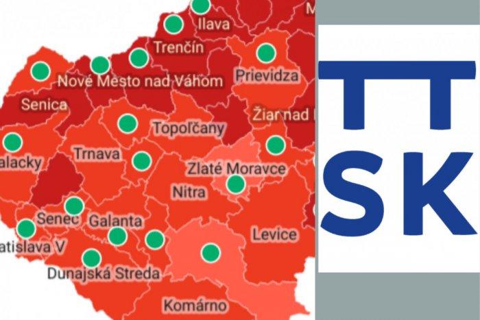 Ilustračný obrázok k článku COVID automat odhalil nové farby: Len jeden okres z Trnavského kraja bude bordový!