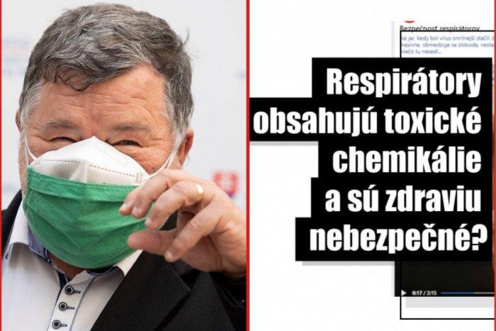 Ilustračný obrázok k článku OHAVNÉ video o respirátoroch sa šíri internetom: Do nechutného hoaxu zatiahli Krčméryho!