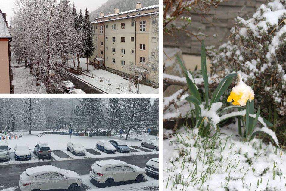 Ilustračný obrázok k článku Zima vystrkuje rožky aj v apríli: Takto sa Bystrica odela do bielej, FOTO