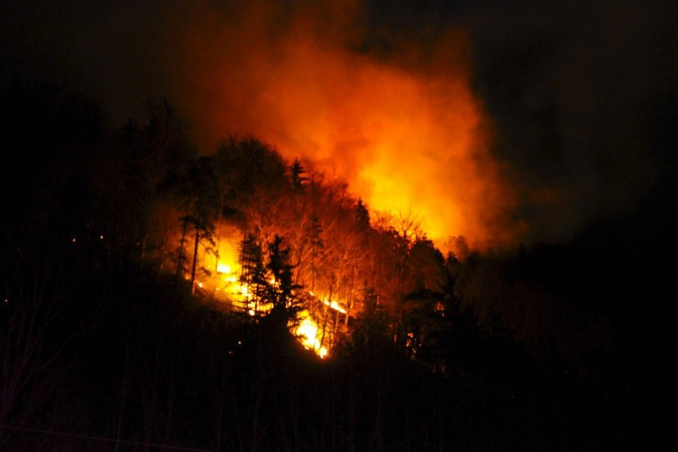 Ilustračný obrázok k článku Spomínate si na požiar spred 10 rokov? Pri Bystrici zasahovali hasiči zo 4 krajov, FOTO