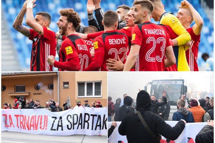 Ilustračný obrázok k článku V uliciach Trnavy to ŽILO aj napriek opatreniam: Futbalisti Spartaka DOBYLI Bratislavu! FOTO