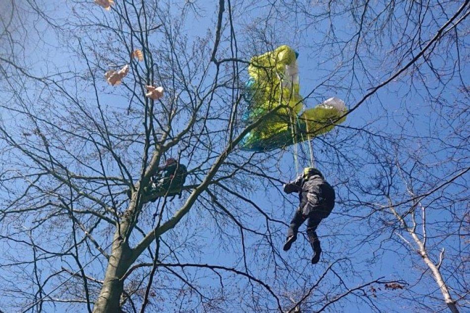 Ilustračný obrázok k článku Záchranná akcia v Hornej Súči: Paraglajdistka uviazla na strome, FOTO