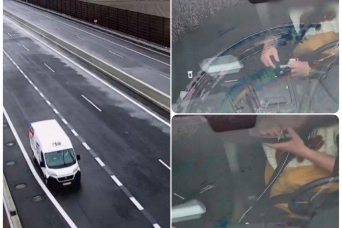 """Ilustračný obrázok k článku ŠOKUJÚCE zábery diaľničnej kamery: Šofér odstavil dodávku, """"narysoval"""" si lajnu a ŠŇUPOL si!"""