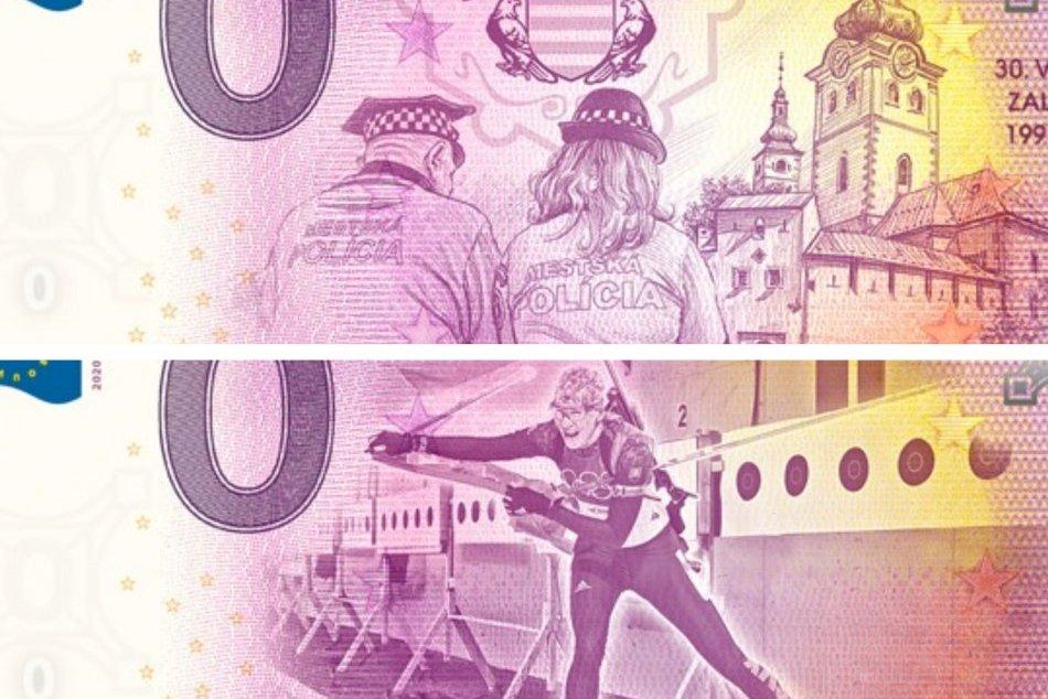 Ilustračný obrázok k článku Vyobrazujú mestskú políciu aj známu osobnosť: V Bystrici kúpite unikátne bankovky, FOTO