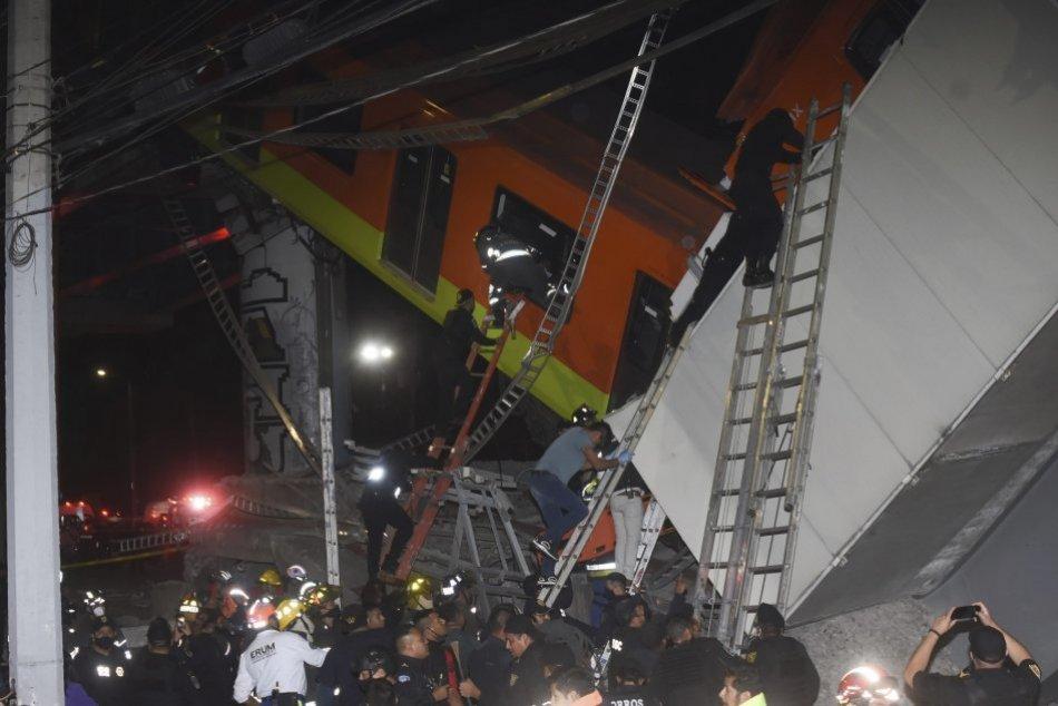 Ilustračný obrázok k článku Nočná tragédia v Mexiku: Pri páde mosta pre metro zahynulo 23 ľudí, medzi nimi aj deti