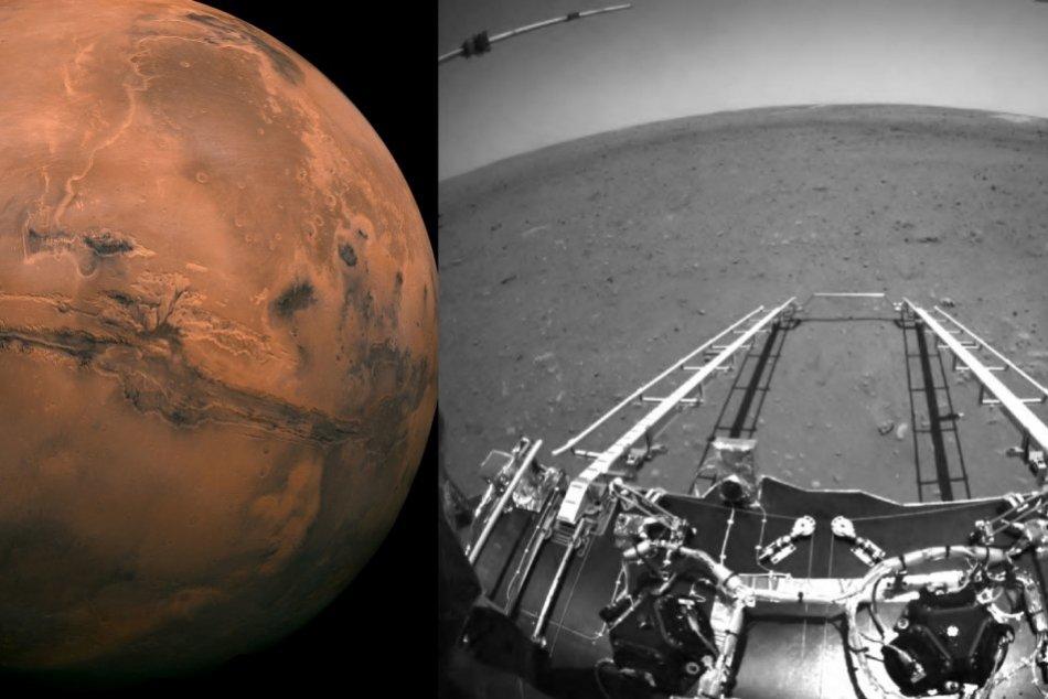 Ilustračný obrázok k článku Čína si pripísala obrovský úspech: Nový rover poslal prvé snímky z povrchu Marsu