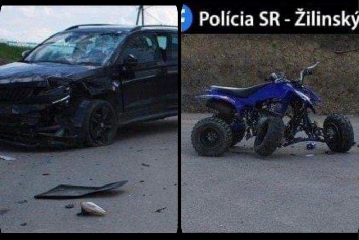 Ilustračný obrázok k článku Obrovská tragédia na Orave: Len 15-ročný chlapec na štvorkolke neprežil zrážku s autom
