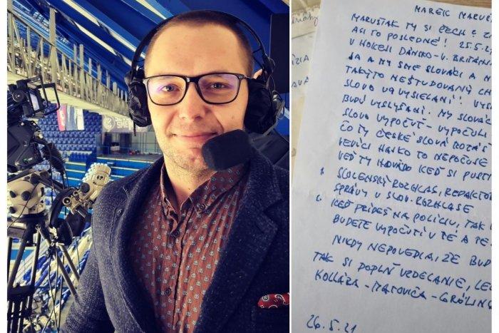 Ilustračný obrázok k článku Športový komentátor ukázal list od diváka: Ty hovädo, máme ťa za Matoviča! FOTO