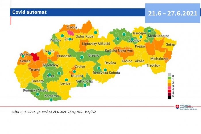 Ilustračný obrázok k článku Slovensko bude od pondelka prevažne ŽLTÉ: Respirátor bude povinný už len v 2 okresoch!