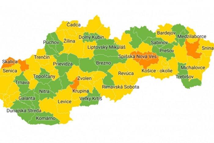 Ilustračný obrázok k článku NOVÉ rozdelenie Slovenska: Od pondelka bez červených a ružových okresov