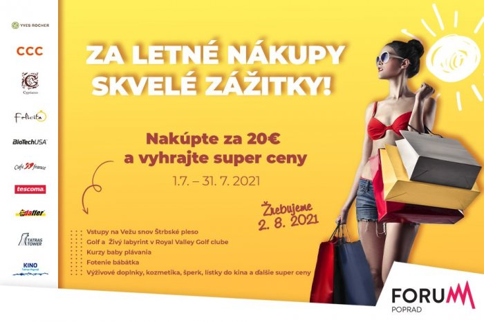 Ilustračný obrázok k článku Za letné nákupy vo Forume skvelé zážitky!