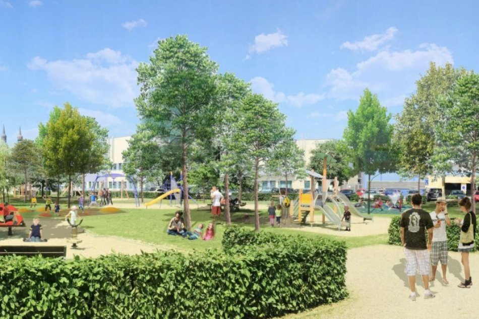 Ilustračný obrázok k článku Sídlisko v Trnave čakajú veľké zmeny: Pribudne potok aj šmykľavka pre dospelých