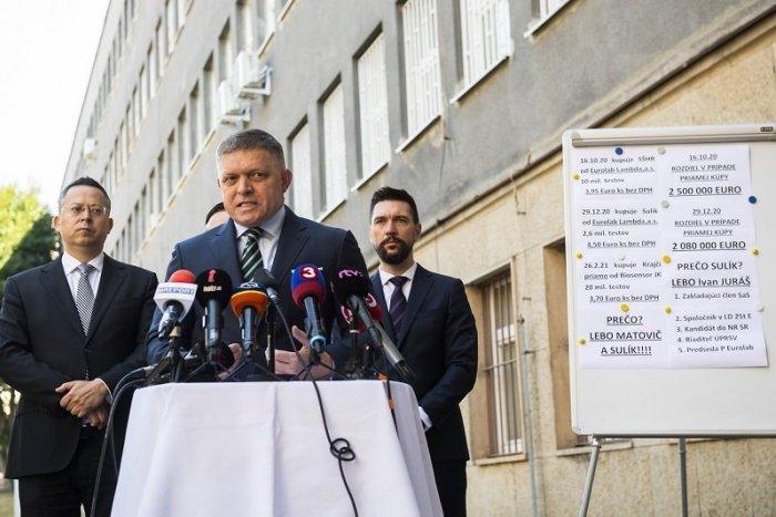 """Ilustračný obrázok k článku Smer-SD podal """"verejné trestné oznámenie"""" pre nákup testov od trnavskej firmy"""