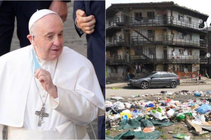 Ilustračný obrázok k článku Pápež je ochotný prísť na miesto, kde nikto nechce ísť: Na sídlisko Luník IX