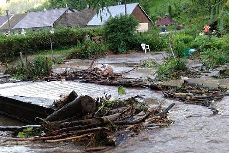 Ilustračný obrázok k článku Pohroma vo Valaskej Belej: Voda sa liala zovšade, obec hlási masívne škody, FOTO