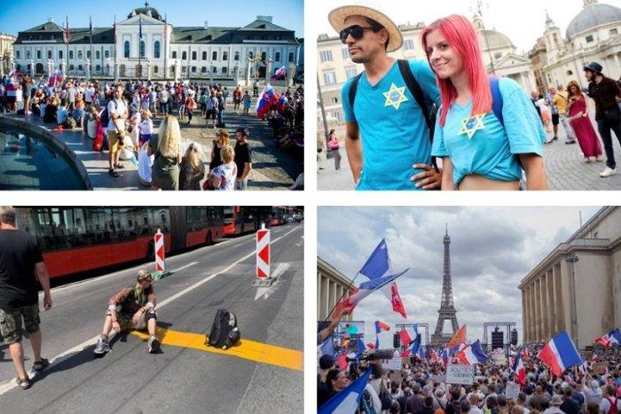 Ilustračný obrázok k článku Európu zmietajú protesty proti vládam a ich opatreniam: Pridala sa aj Bratislava, VIDEO
