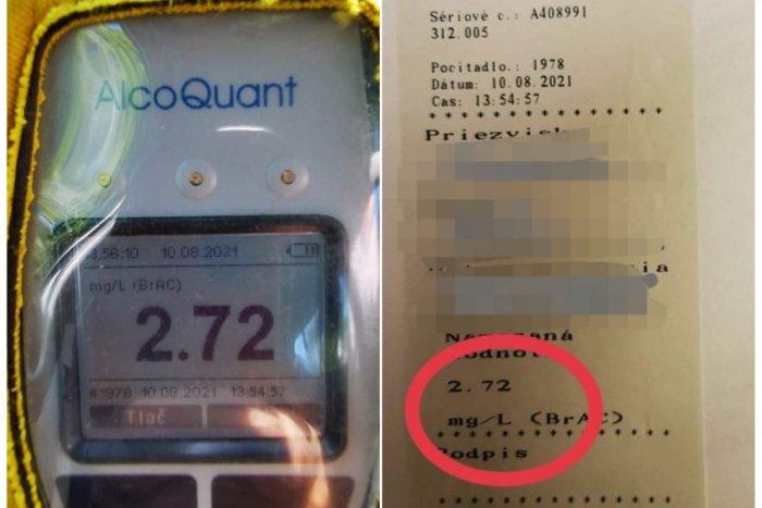 Ilustračný obrázok k článku Šokovaní policajti: Šoférka jubilantka nafúkala 5,7 promile! Koľko toho musela VYPIŤ?