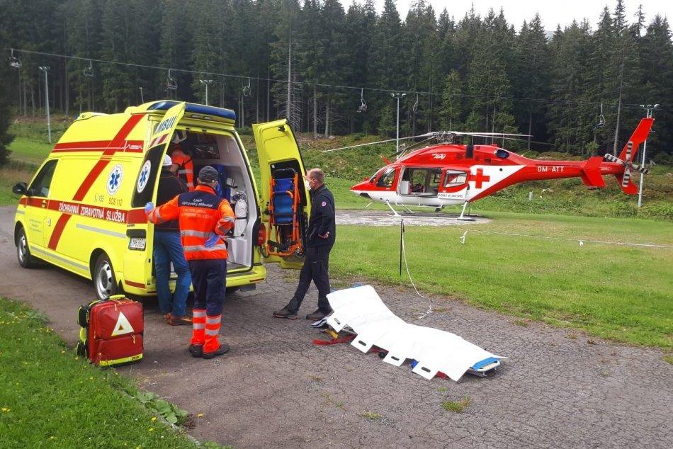 Ilustračný obrázok k článku Zásah leteckých záchranárov v Jasnej: Pomoc potreboval zamestnanec lanových dráh