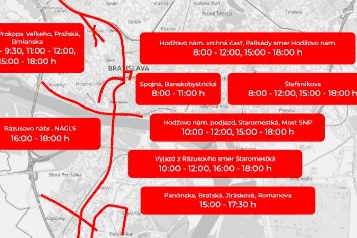 Ilustračný obrázok k článku Na TIETO miesta sa dnes MHD či autom NEDOSTANETE: Pondelňajšie dopravné obmedzenia