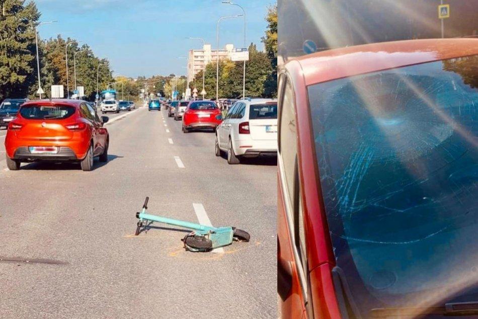 Ilustračný obrázok k článku Auto zrazilo mladú kolobežkárku: V celom meste kolabovala doprava, FOTO